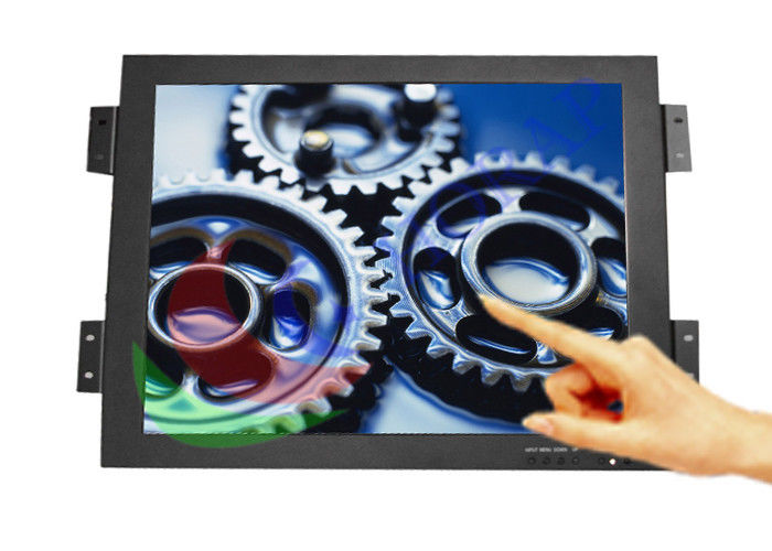 17 Inch Industrial Touch Screen Monitor , Energy Saving Panel Mount Touch Screen